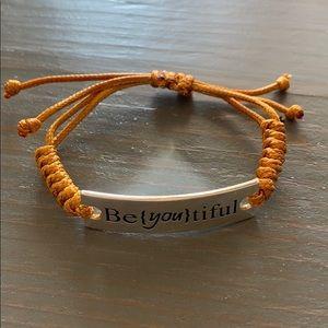 Inspirational Bracelet Be{YOU}tilful Adjustable